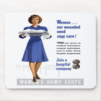 El cuerpo del ejército de las mujeres alfombrillas de ratón