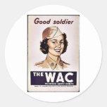 El cuerpo del ejército para mujer de Wac Pegatina Redonda