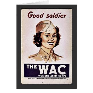 El cuerpo del ejército para mujer de Wac Tarjetón