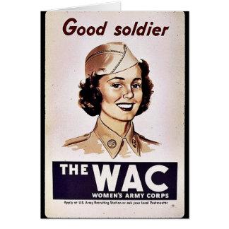 El cuerpo del ejército para mujer de Wac Felicitacion