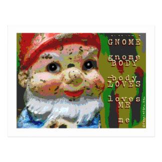 El cuerpo del gnomo me ama tarjetas postales