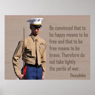 El Cuerpo del Marines manda y los peligros de la g Póster