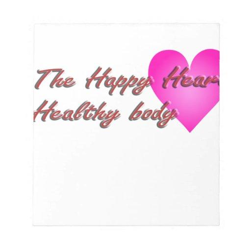 El cuerpo feliz de Healty del corazón Bloc De Papel