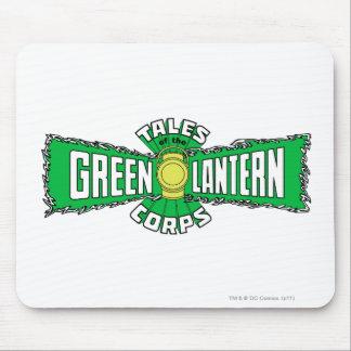 El cuerpo verde de la linterna - logotipo verde alfombrillas de raton