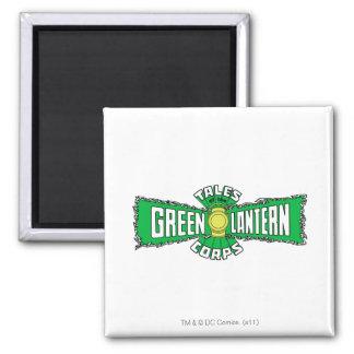 El cuerpo verde de la linterna - logotipo verde imán cuadrado