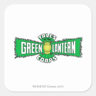 El cuerpo verde de la linterna - logotipo verde pegatina cuadrada