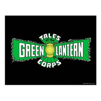 El cuerpo verde de la linterna - logotipo verde postal
