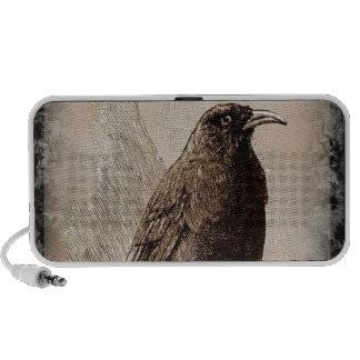 El cuervo altavoces de viajar