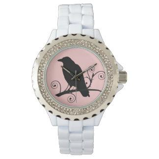 """El cuervo """"amor del cuervo canta"""" reloj adaptable"""