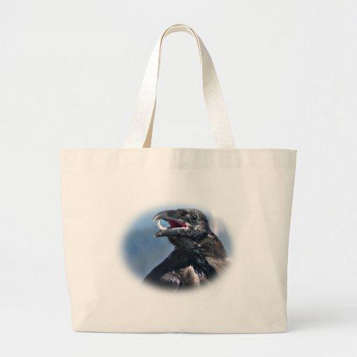 El cuervo comió los regalos del cuervo de los jóve bolsa tela grande