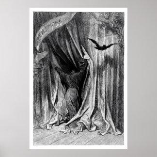 El cuervo de Edgar Allan Poe - nunca más poster