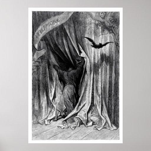 El cuervo de Edgar Allan Poe - nunca más poster Póster