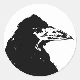 El cuervo de Edgar Allan Poe Pegatina Redonda