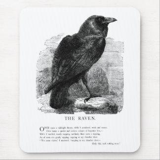 El cuervo de Edgar Allen Poe Alfombrilla De Ratones