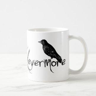 El cuervo de Edgar Allen Poe asalta nunca más Taza Clásica