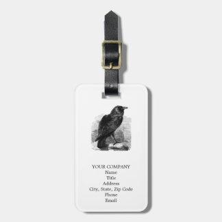 El cuervo de Edgar Allen Poe Etiqueta Para Maleta