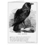 El cuervo de Edgar Allen Poe Tarjeta Pequeña