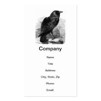 El cuervo de Edgar Allen Poe Tarjetas De Visita