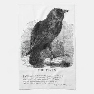 El cuervo de Edgar Allen Poe Toalla De Cocina