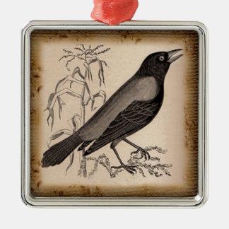 El cuervo ornamento de navidad