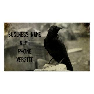 El cuervo del cementerio tarjetas de visita