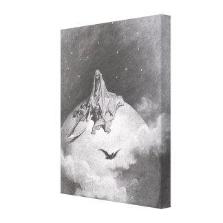 El cuervo del Poe que soña la impresión de los sue Lienzo Envuelto Para Galerias