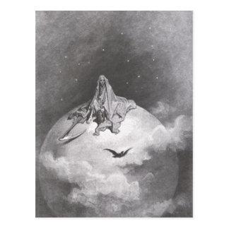 El cuervo del Poe que soña la impresión de los sue Tarjetas Postales