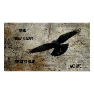 El cuervo del vintage tarjetas de visita