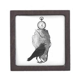 El cuervo, el cuervo y el runestone cajas de recuerdo de calidad