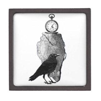 El cuervo, el cuervo y el runestone caja de recuerdo de calidad