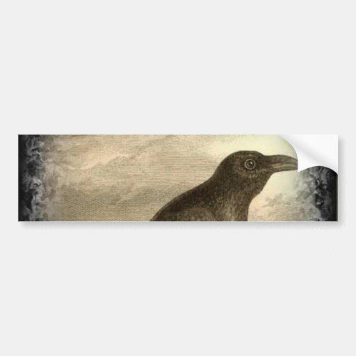 El cuervo etiqueta de parachoque