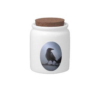 El cuervo jarras para caramelos