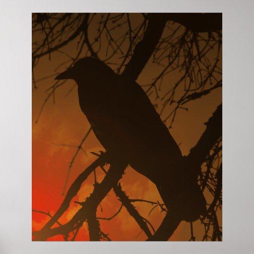 El cuervo Halloween Posters