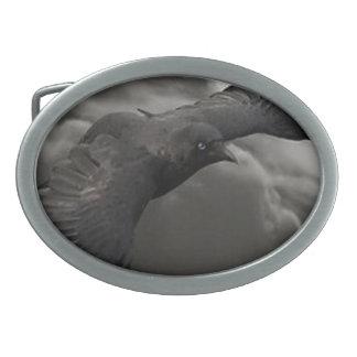 El cuervo hebillas cinturón ovales