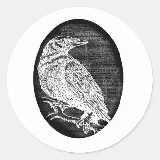"""""""El cuervo"""" inspiró diseño gráfico Etiqueta Redonda"""