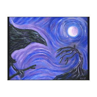 El cuervo impresión en lona estirada