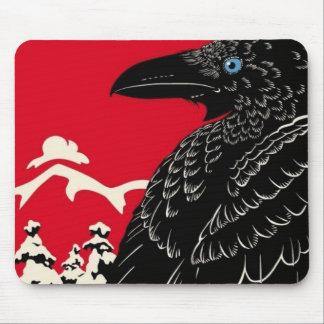 El cuervo negro alfombrillas de ratones