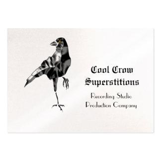 El cuervo negro supersticioso se refresca tarjetas de negocios