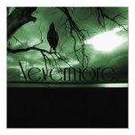 El cuervo - nunca más árbol de los rayos de sol - invitación 13,3 cm x 13,3cm