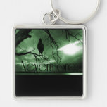 El cuervo - nunca más árbol de los rayos de sol -  llavero