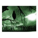 El cuervo - nunca más árbol de los rayos de sol - postal