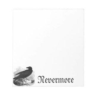 """El cuervo """"nunca más"""" libreta libreta para notas"""