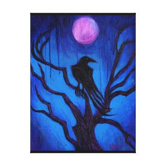 El cuervo nunca más impresion en lona
