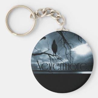 El cuervo - nunca más rayos de sol y azul del árbo llavero redondo tipo pin