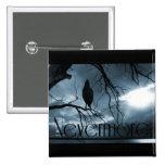 El cuervo - nunca más rayos de sol y azul del árbo pins