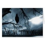 El cuervo - nunca más rayos de sol y azul del árbo tarjetas