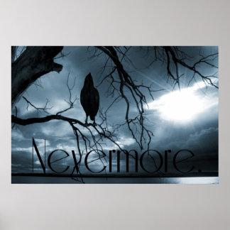 El cuervo - nunca más rayos de sol y azul del póster