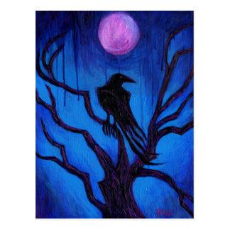 El cuervo nunca más tarjeta postal