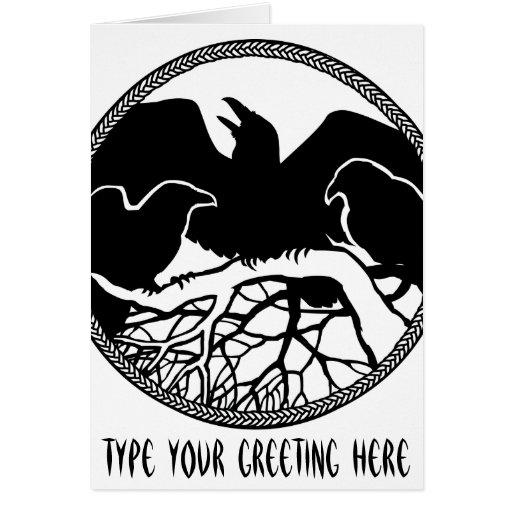 El cuervo personalizado carda tarjetas frescas del
