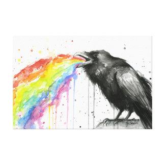El cuervo prueba la impresión de la lona de la impresiones de lienzo